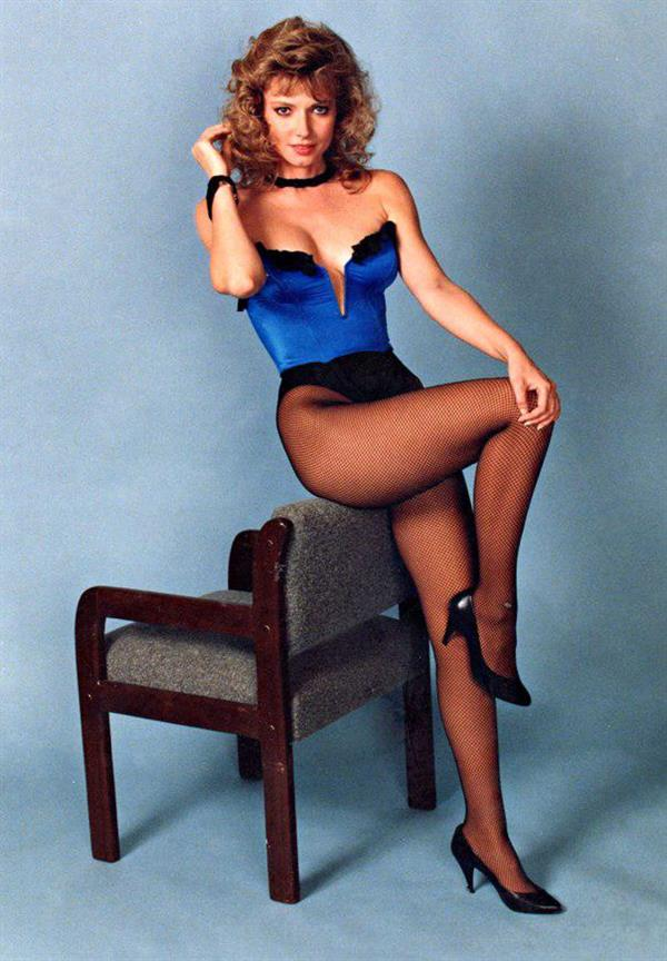 Cindy Morgan in lingerie