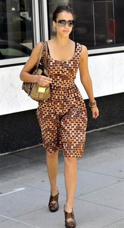 Jessica Alba heads to an afternoon meeting in Beverly Hills June 16, 2010
