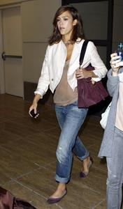 Jessica Alba at LAZ on September 2, 2010