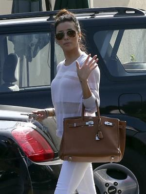 Eva Longoria out for lunch at Cafe Med in Beverly Hills 3/15/13
