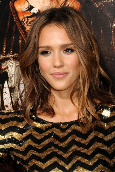 Jessica Alba at the Machete premiere in Los Angeles on Aug 25, 2010