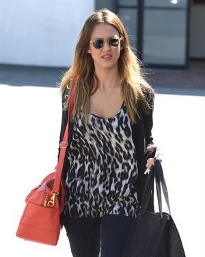 Jessica Alba running errands in West Hollywood 2/25/13