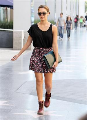 Jessica Alba - Heading to a meeting, Hollywood - August 19, 2012