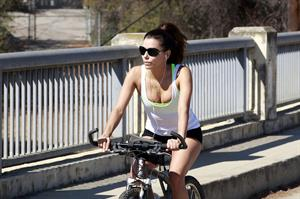 Eva Longoria Riding a bike in Los Angeles - August 24-2013