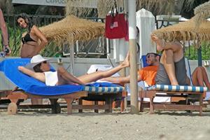 Eva Longoria Wearing a bikini on holiday in Marbella 04.08.13
