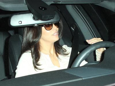 Eva Longoria - Leaving a salon in Beverly Hills 1/16/13