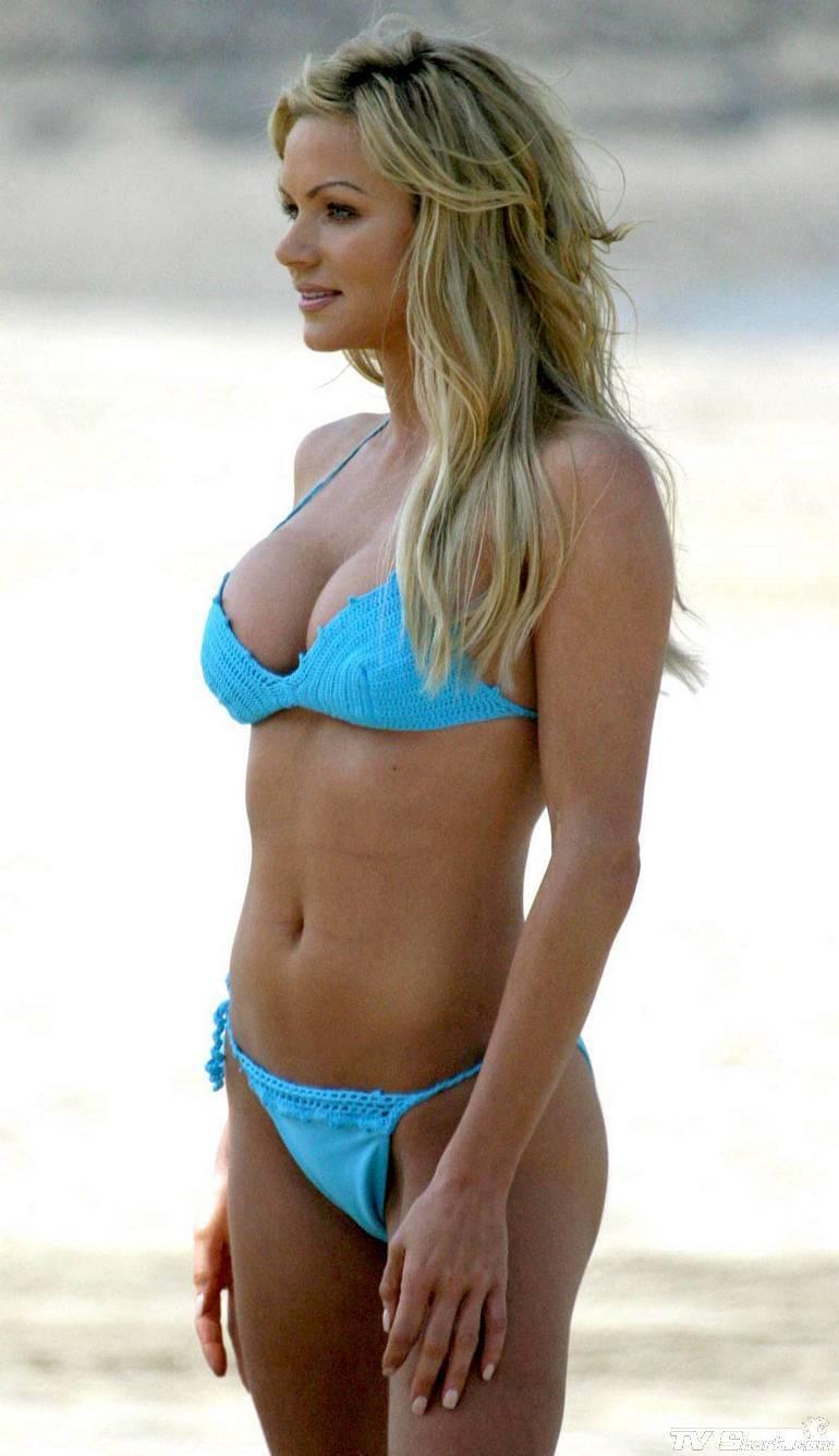 Nikki Ziering in a bikini