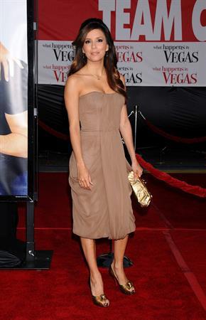 Eva Longoria at the Los Angeles premiere of What Happens in Las Vegas