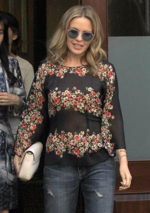 Kylie Minogue spotted out and about in New York City, New York on June 19, 2013