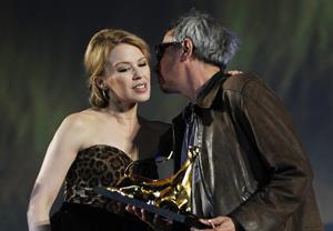 Kylie Minogue Swisscom of Honor To Leos Carath Locarno Film Feszival 03.08.12