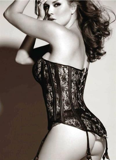 Alicia Machado in lingerie - ass