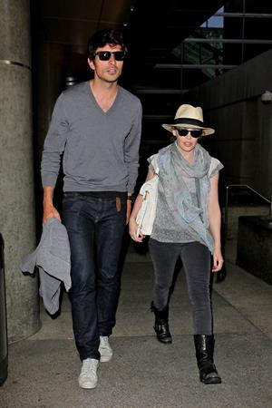Kylie Minogue - LAX Airport in LA - June 9, 2012