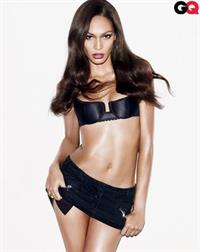 Joan Smalls in lingerie