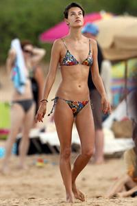 Alessandra Ambrosio on the beach in Hawaii on July 28, 2010