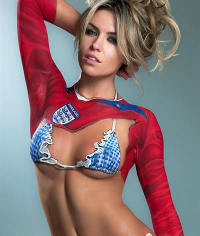 Abigail Clancy in body paint
