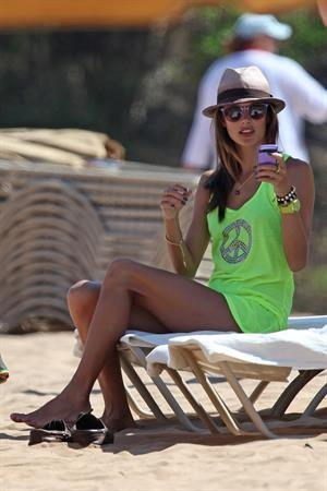 Alessandra Ambrosio out about Hawaii Aug 8, 2011