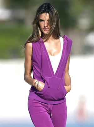 Alessandra Ambrosio St Barts Victorias Secret photo shoot Jan 25