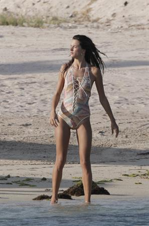Alessandra Ambrosio photo shoot in St Barthelemy on March 7, 2010