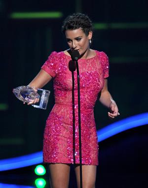 Lea Michele at the 39th Annual People's Choice Awards in Los Angeles on Jan 9, 2013