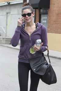 Ashley Greene leaving a gym in Studio City on April 24, 2012
