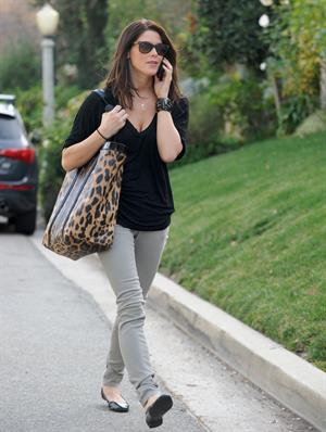 Ashley Greene visits a friend in Los Angeles on January 10, 2010