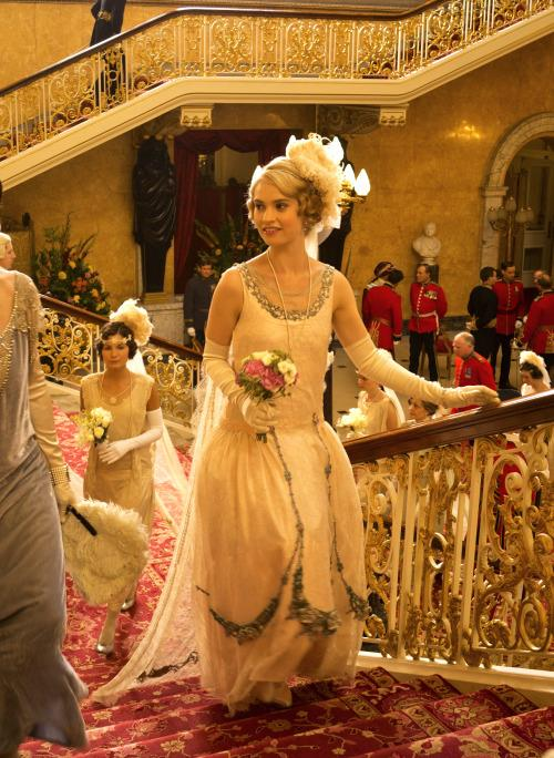 Lily James as Lady Rose MacClare in Downton Abbey