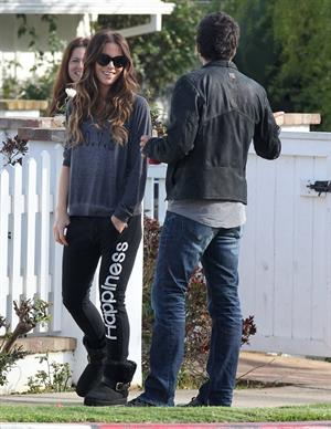Kate Beckinsale Spotted at a friends house in Pacific Palisades March 32013