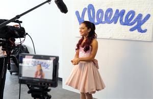Ariana Grande Kleenex Shield Sneeze Swish event in New York on July 31, 2012