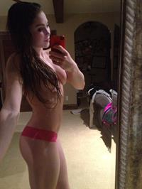 McKayla Maroney taking a selfie and - breasts