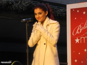Ariana Grande Macys Lighting event in Boston November 26, 2010