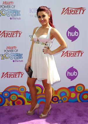 Ariana Grande Variety's Power of Youth 4th annual event on October 24, 2010