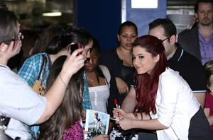 Ariana Grande promoting Nickelodeons Victorious at Planet Hollywood on April 30, 2010 in New York City