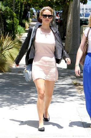 Jennifer Lawrence outside the Sheraton Hotel in Los Angeles on June 23, 2012
