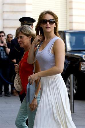 Jennifer Lawrence out and about in Paris 1-7-2012