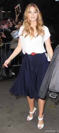 Jennifer Lawrence Good Morning America in New York City on Match 21, 2012