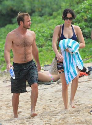 Jennifer Lawrence bikini candids in Hawaii 11/22/12