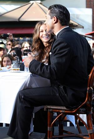 Sofia Vergara at The Grove with Mario Lopez on April 28, 2011