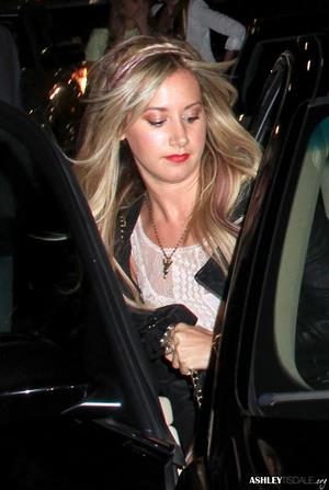 Ashley Tisdale leaving Katsuya restaurant in Hollywood 02-08-2012