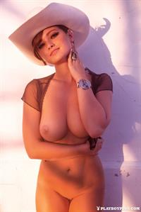Playboy Cybergirl - Chelsie Aryn out west, on the side of the road, in a coyboy hat