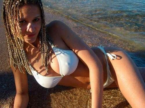 Anonymous in a bikini - breasts