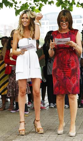 Abigail Clancy GMTV's This Morning Studios in London on July 27, 2010