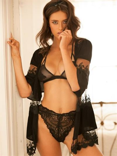 Audrey Blondin in lingerie