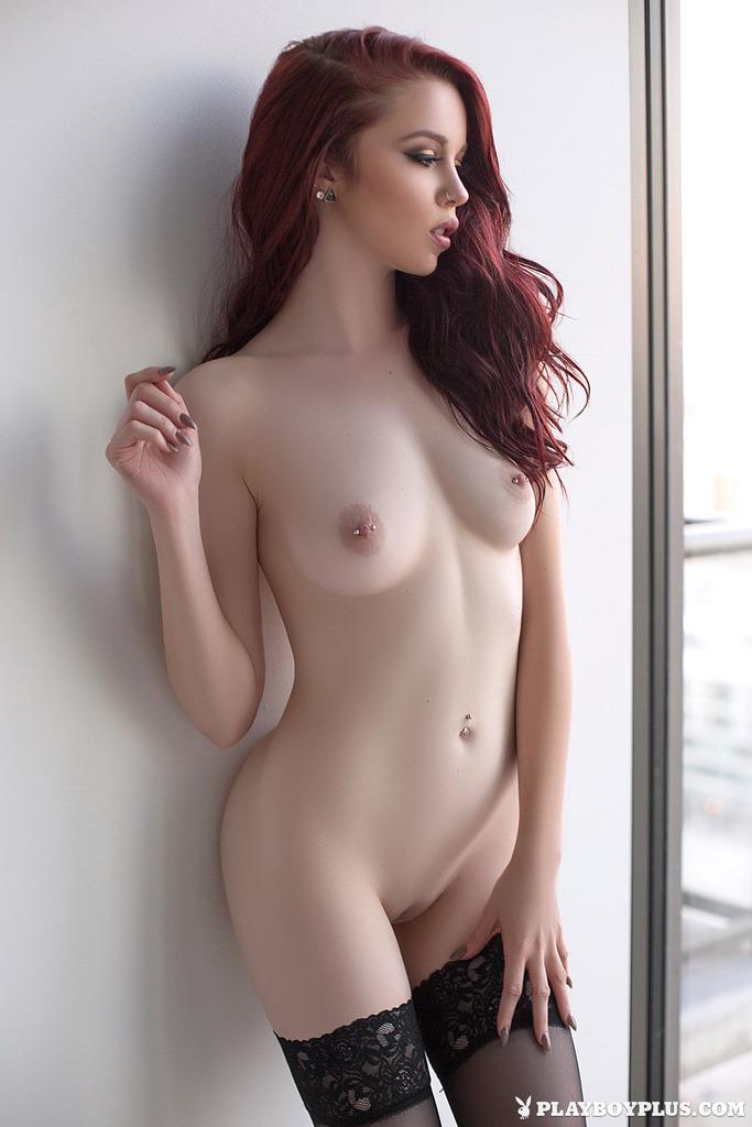 Redhead Nico Faye nude for Playboy
