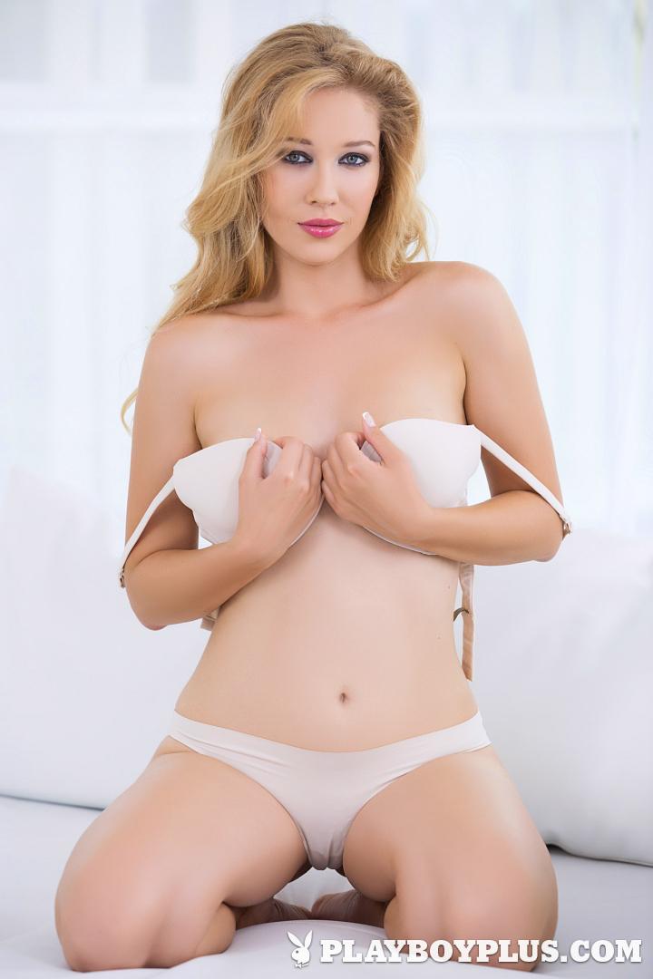 Playboy Cybergirl - Marianna Merkulova takes off her white lingerie for Playboy Plus!