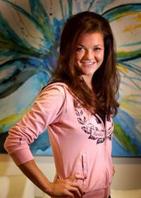 Agnieszka Radwanska at the player beauty bar at the Australian Open in Melbourne January 21-2013