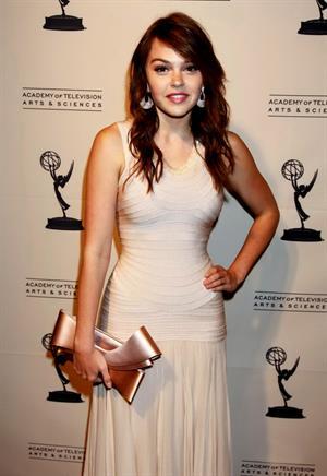 Aimee Teegarden 63rd Primetime Emmy Writers Nominee Reception at Leonard H. Goldenson Theatre on September 15, 2011