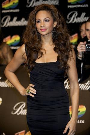 Alesha Dixon - arriving at the 40 Principales Awards at the Palacio de Deportes in Madrid - Spain