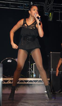 Alesha Dixon - Performs at the switching-on of the Blackpool Illuminations - England 03-09-10