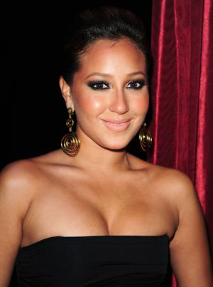 Adrienne Bailon at LAX lounge in Las Vegas