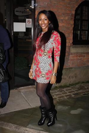 Alexandra Burke KEY 103 radio station in Manchester on February 28, 2012